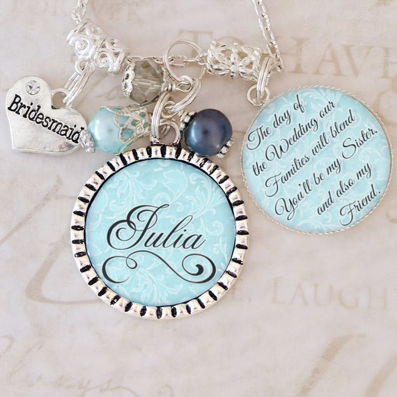 Sister In Law Wedding Gift: Sister In Law Wedding Gift BRIDESMAID Jewelry Personalized