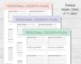 personal goal tracker template