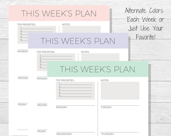 goal template goal planner printable life goals printable etsy