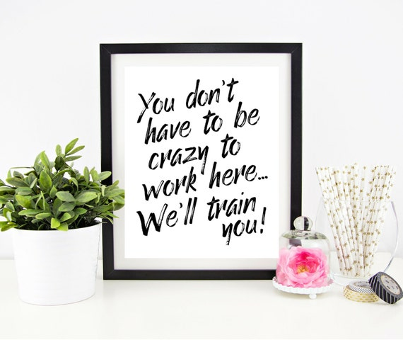 Cubicle Decor Printable Office Wall Art Funny Office Signs | Etsy