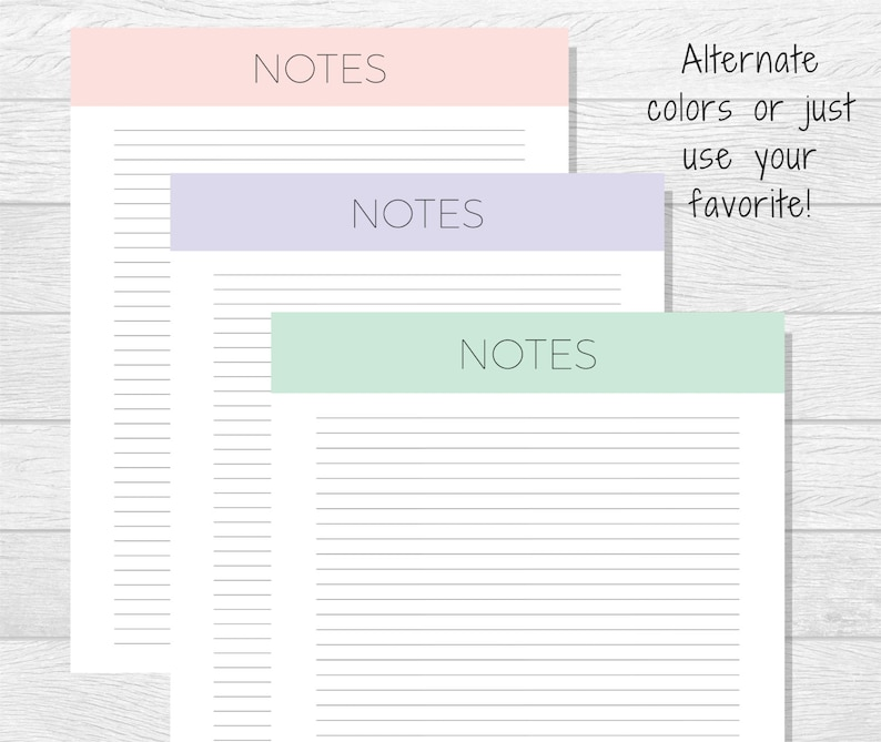 image relating to Printable Notes Page called Notes Printable - Notes Planner - Notes Web page Printable - Printable Toward Do Listing - Notes Planner Webpage - Printable Planner - Notes Increase