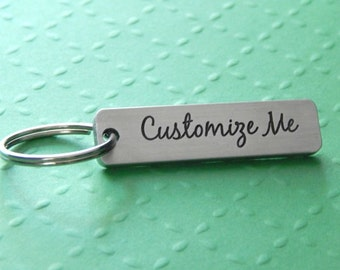 Customized Keychain, Personalized Keychain, Aluminium Keychain, Stocking Stuffer, Gift for Him or Her, Engraved Keychain, Gift for Friend