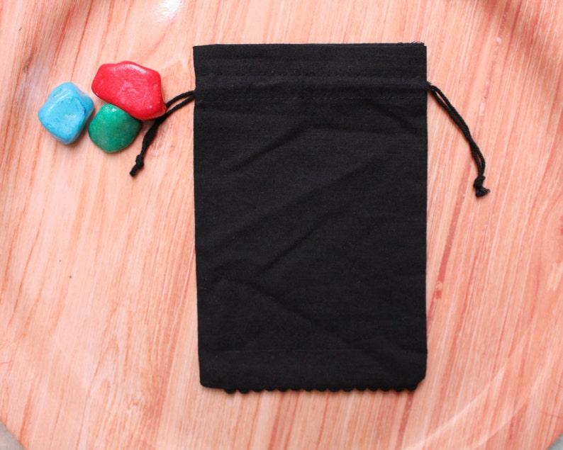 custom logo pouches for gift purpose 100 black cotton bottom pompom pouches