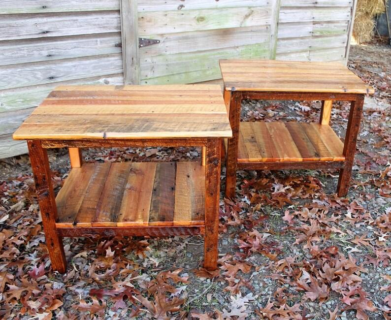 End table Rustic Wood Table Reclaimed Wood Furniture Nightstand Rustic Table Side Table Rustic Bedroom Furniture Wood Table