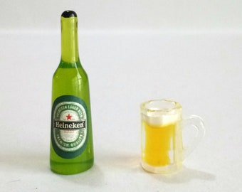 Casa De Muñecas En Miniatura Botella De Cerveza Heiniken