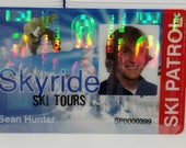 Custom Plastic ID Badge, Slot Punched, With Holographic quot Key Seal quot Overlay - Corporate ID, Press Badge, Nurses, Teachers - Custom ID Cards