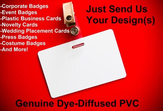1 custom plastic pvc employee id badge single or dual sided etsy image 0 reheart Gallery
