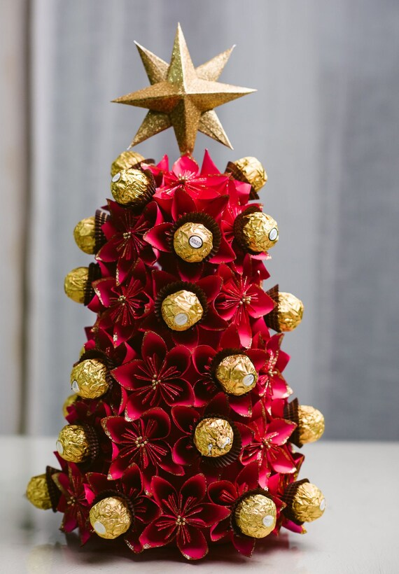 Origami Flower Christmas Tree Ferrero Rocher Christmas
