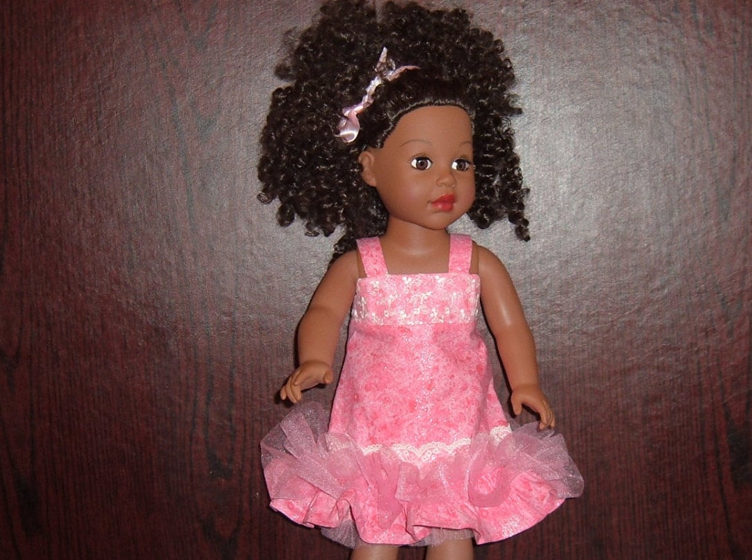 74f273301 Dress and Bolero Jacket in Hot Pink Cotton made to fit 18 Dolls like ...