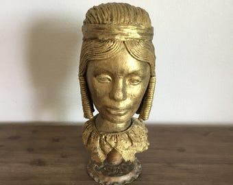Vintage Mannequin Head; Styrofoam Mannequin Head; Handmade Mannequin; Styrofoam Head; Female Mannequin Head