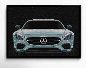 Mercedes AMG GT Mercedes Art Wall Art Supercar Man Cave Gift For Him Automotive Art Mercedes Art Car Art Home Decor Mercedes Décor