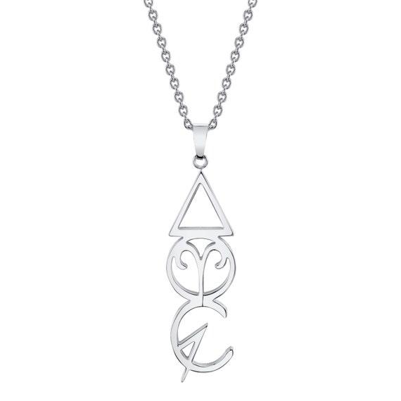 Aries Zodiac Necklace Fire Element Spring Alchemy Symbol Etsy