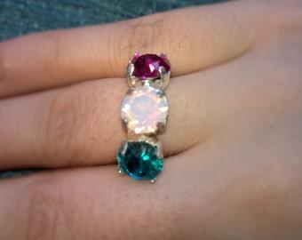 Adjustable Swarovski Crystal Ring