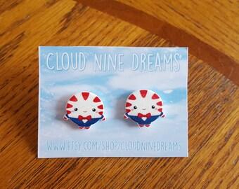 Adventure Time Inspired Peppermint Butler Earrings