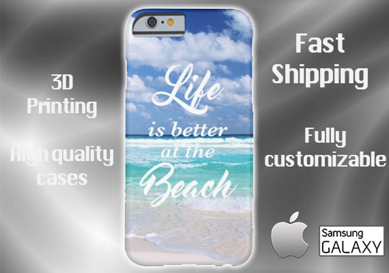 new style 36028 29f83 Beach Life Cell Phone Case, Beach Cell Phone Case, Phone 6 case, iPhone 6  plus cell case, iPhone 6 plus case, Samsung S6, S7 Edge case
