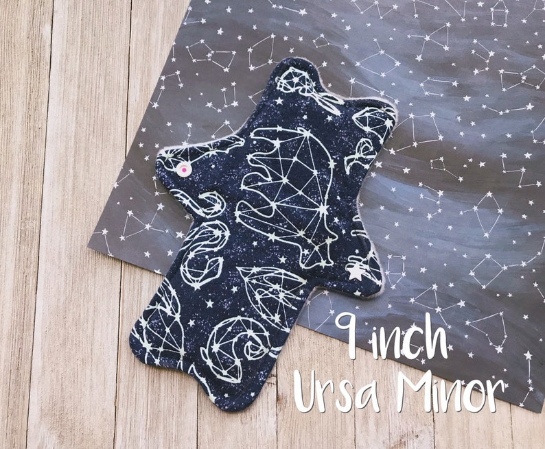 9 7 and 13 Ursa Major Constellation Cotton Flannel Glow in the Dark Zorb Reusable Cloth Pads 11