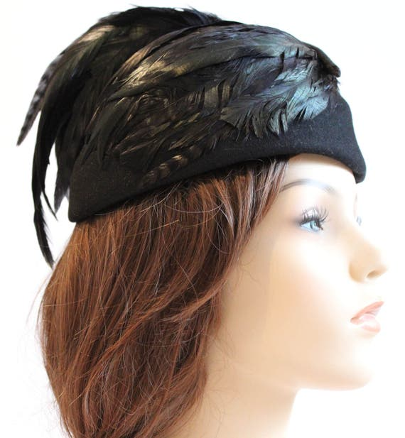 Vintage Sophisticated Feather Mr. John Calot Hat |