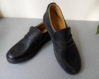 9b4de7b147bbcb Vintage Herren Schwarze Lederschuhe   bulgarischen Herren Leder Schuhe 70er  Jahre   bequeme Schuhe   Business-Schuhe   Casual Schuhe für Männer.