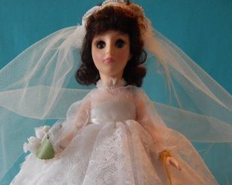 Vintage Effanbee Doll, 3326 Bride Chesnut in box