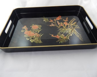Vintage Hand Painted Serving Tray from the Smithsonian Institution