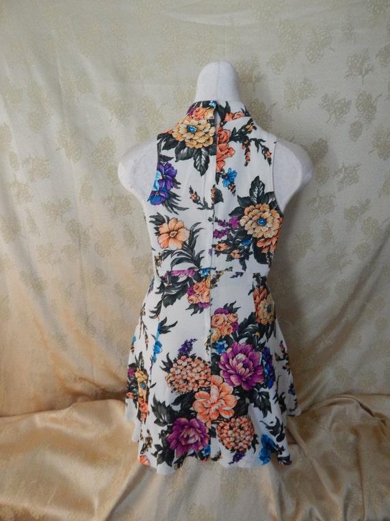 Vintage Hawaiian Mini Dress 1970's - image 4