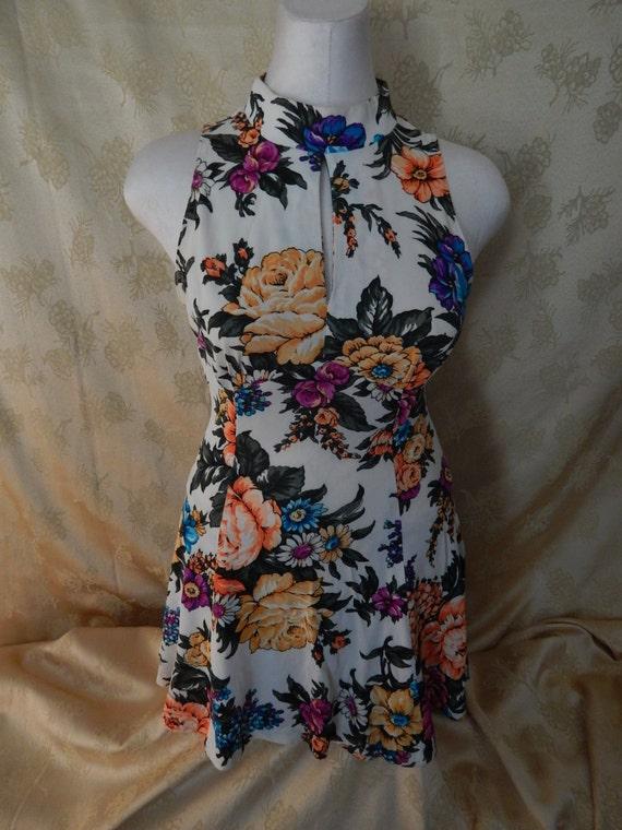 Vintage Hawaiian Mini Dress 1970's
