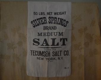 Silver Springs Salt Bag Vintage