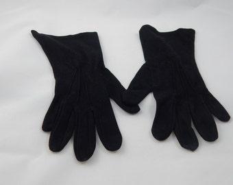 Vintage Black Dress Gloves Van Raalte USA Size Small