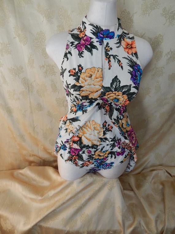 Vintage Hawaiian Mini Dress 1970's - image 3