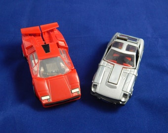 Vintage Pair of Transformer Cars Sideswipe & Bluestreak