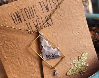 Idaho, My Heart Necklace