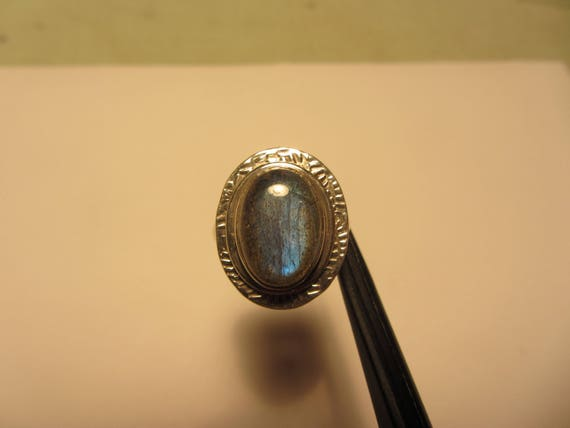 925 Sterling Silver nature Black Onyx gemstone Ring Size 7 US 6.38 g