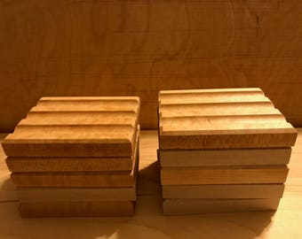10 Hand Crafted Solid Maple Soap Dishes, Soap Dish, Wood Soap Dish, Maple Soap Dish, Rustic Soap Dish, Natural Soap Dish, Wedding Favors