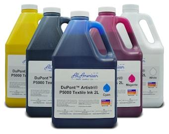 DuPont DTG P5000 Digital Textile Ink Compatible With Neoflex, Texjet, Freejet, Anajet,Katana Printers