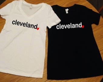Cleveland Shirt, Ohio Shirt, Cleveland vneck