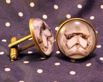 Star Wars The Force Awakens stormtrooper cufflinks