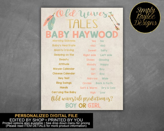 Bows or Arrows Old Wives Tales Game - Tribal Old Wives Tales Game - Bows or  Arrows Gender Reveal Game