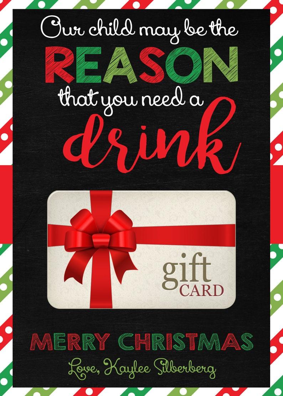 Christmas Teacher Appreciation Gift Card Holder