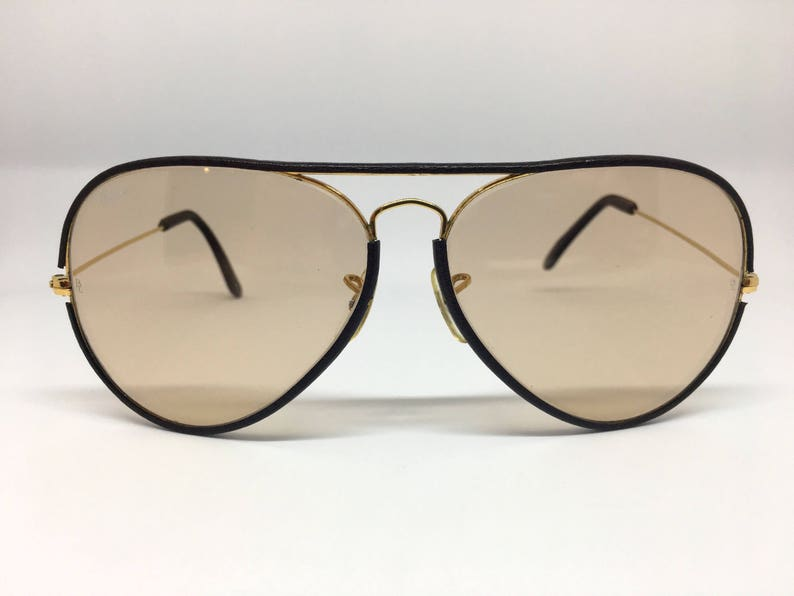 aee881f4c0487 Vintage B L Bausch and Lomb Ray Ban Leather Aviator