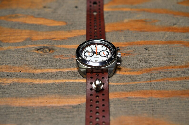 606e4030b90 Rally Leather Stud Passthrough Watch Strap