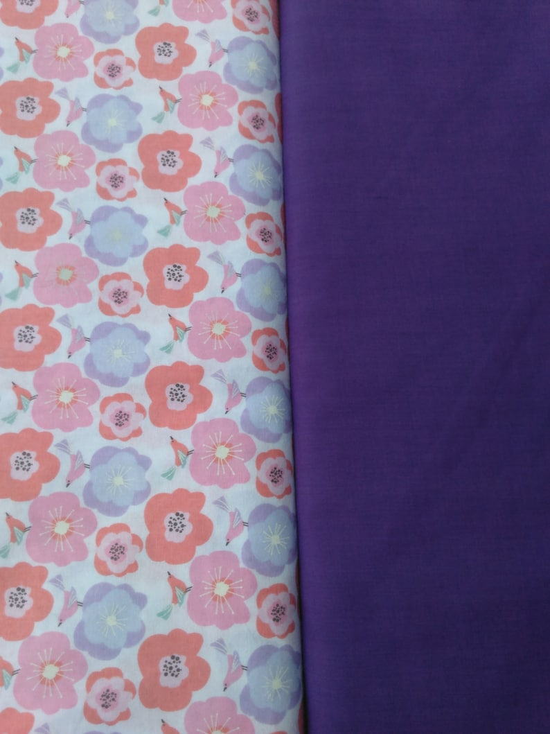 Doggy Sun Visor Pastel Multicolor Flowers on White with Purple Lining