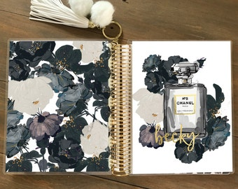 Original Stylish Planner™ Cover Set - Black Flowers: For use with Erin Condren Life Planner(TM), Happy Planner and Recollections Planner