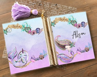 Original Stylish Planner™ Cover Set - Mermaid Princess: For use with Erin Condren Life Planner(TM), Happy Planner and Recollections Planner