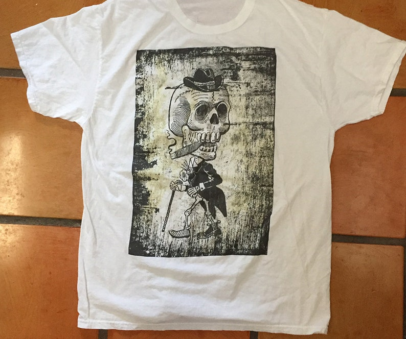 Day of Dead Banker T Shirt in White