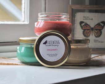 PICK 3 Soy Candles - 11 oz Glass Tureen Jars - Hand-Poured/Strong/Natural
