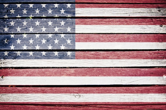 Flag Wood Backdrop American Flag 4th Of July Patriotic Etsy