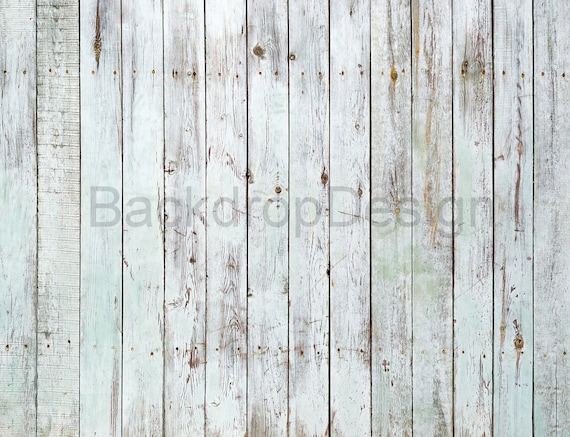 Vintage White Painted Wood Backdrop Distressed White Washed Old