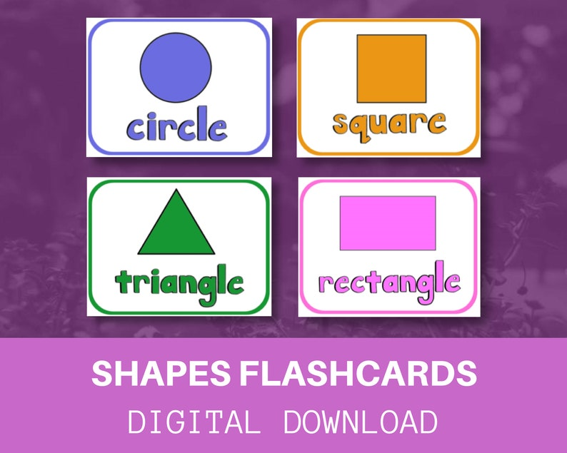 image about Printable Shapes Flashcards identify Styles Flashcards / Electronic Obtain / Printable / Quick Obtain / Vocabulary / Practice Your Baby towards Go through