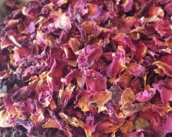 Rose petals 4 cups dried rose petals wedding rose petals soap making supplies cosmetic supplies sachets potpourris supplies candle making