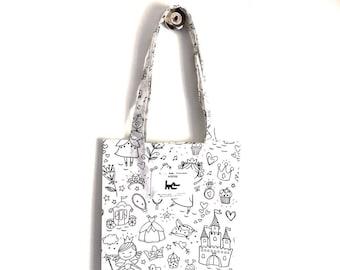 "Tote BAG kids coloring L... his muse KIDS - ""Princess"" pattern"